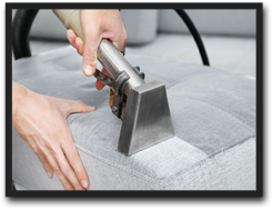 Sofa Steam Cleaning with Advanced Tool